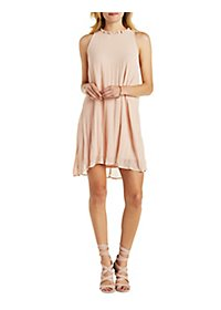 Jella C Ruffle Collar Shift Dress