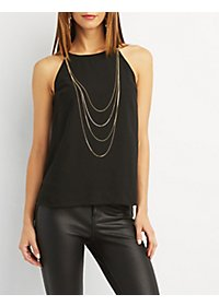 High Neck Chain Top