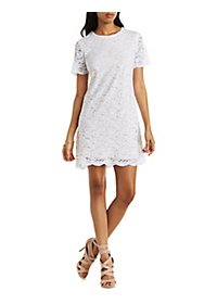 Floral Lace Shift Dress