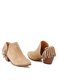 Report Fringed Two-Piece Booties