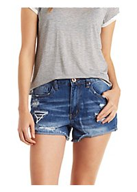 Dollhouse High-Rise Dark Wash Denim Shorts