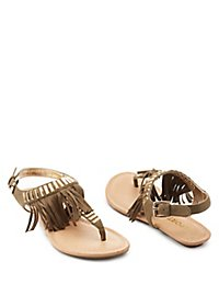 Report Fringed Thong Sandals