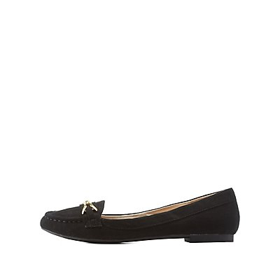 Qupid Buckled Loafer Flats