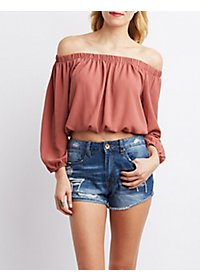 Open Back Off-the-Shoulder Top