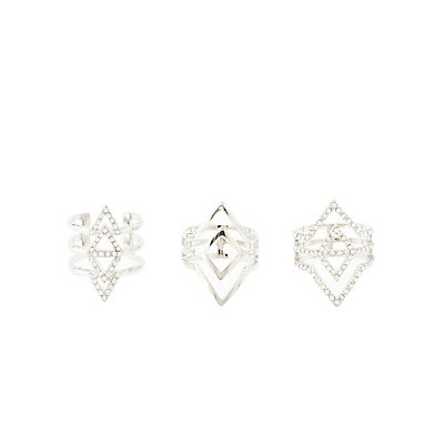Caged Chevron Rings - 3 Pack