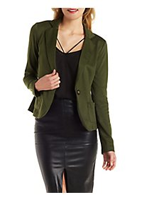 Patch Pocket Ponte Blazer
