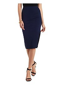 Asymmetrical Cut-Out Pencil Skirt