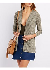 Ribbed Longline Cardigan Sweater