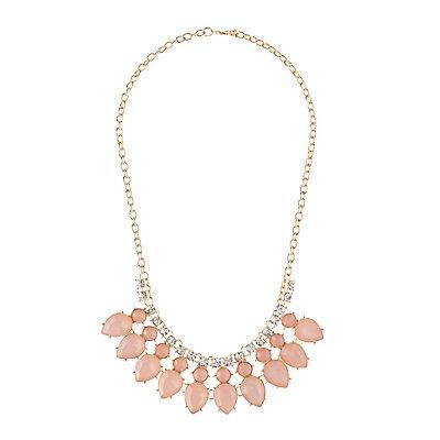 Teardrop Gemstone Collar Necklace