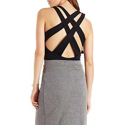 Deep Plunge Sleeveless Bodysuit