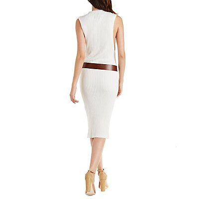 Funnel Neck Bodycon Dress