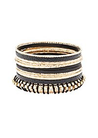 Embellished Bangle Bracelets - 12 Pack