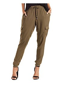 Cargo Pocket Drawstring Jogger Pants