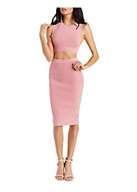 Rehab Bodycon Skirt & Crop Top Hook-Up