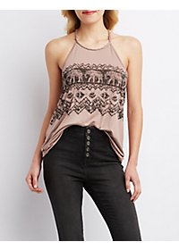 Braided T-Back Tank Top