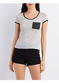 Short Sleeve Ringer Pocket Tee