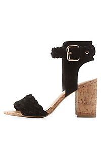 Cork Heel Braided Sandals