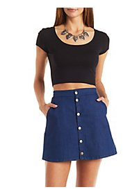 Lattice-Back Crop Top