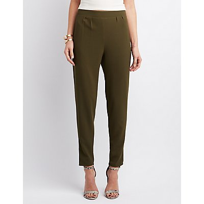 High-Rise Pleated Trousers