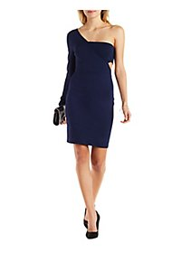 One-Shoulder Cut-Out Bodycon Dress