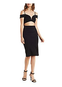Cut-Out Midi Bodycon Dress