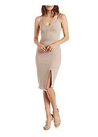 Asymmetrical Strappy Bodycon Dress