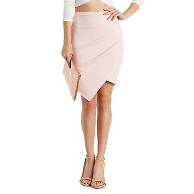 Textured Asymmetrical Skirt