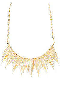 Etched Spikes Statement Necklace