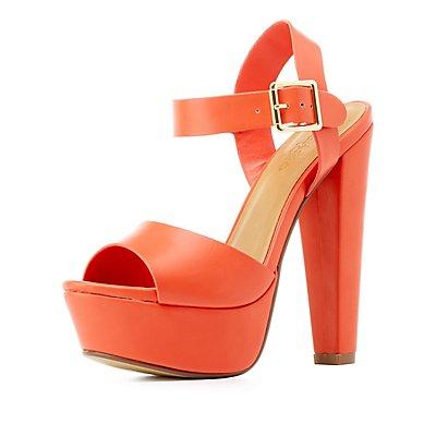 Platform Chunky Heel Sandals