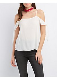 Knotted Sleeve Tank Top