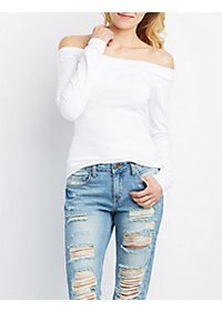Banded Off-the-Shoulder Top