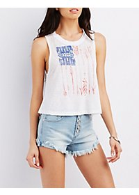 Mineral Wash Graphic Crop Top