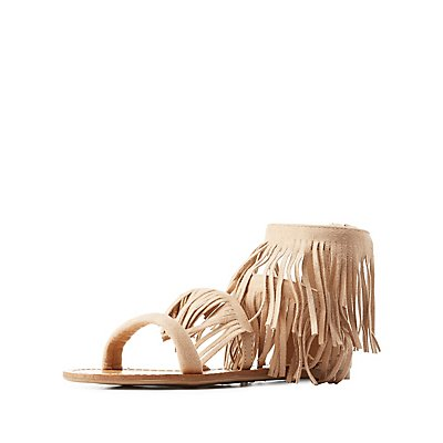 Fringed Flat Sandals