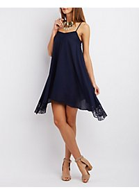 Lace Handkerchief Hem Dress