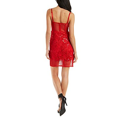 Ark & Co Sequin Lace Bustier Dress