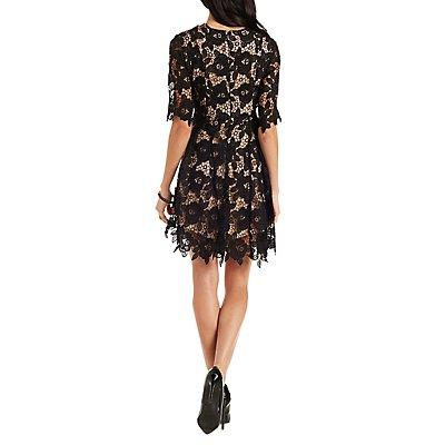 Ark & Co. Floral Lace Skater Dress
