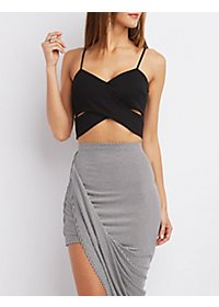 Wrapped Strappy Crop Top