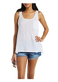 Slub Knit Pocket Tank