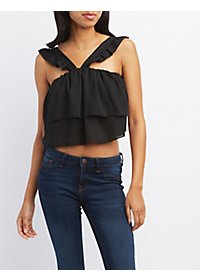 Layered Ruffle Crop Top