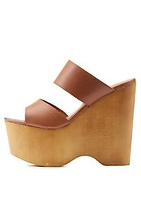 Wooden Platform Wedge Sandals