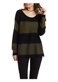 Scoop Neck Striped Sweater