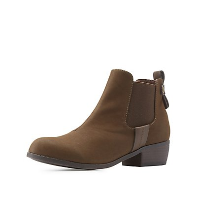 Qupid Side Gore Ankle Booties
