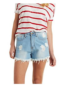 Machine Jeans High-Rise Denim Shorts