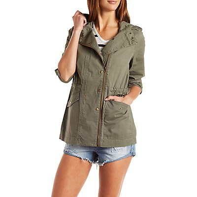 Hooded Asymmetrical Anorak