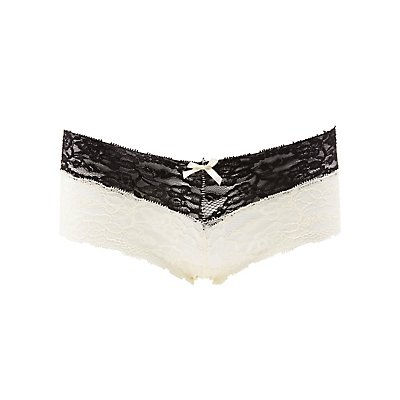 Contrast Lace Cheeky Panties