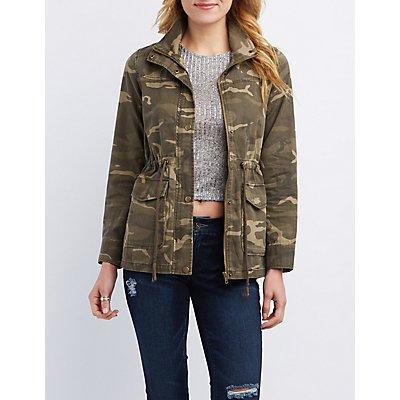 Zip-Up Camo Anorak Jacket