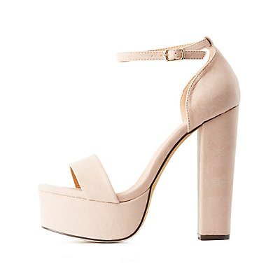 Two-Piece Chunky Platform Sandals
