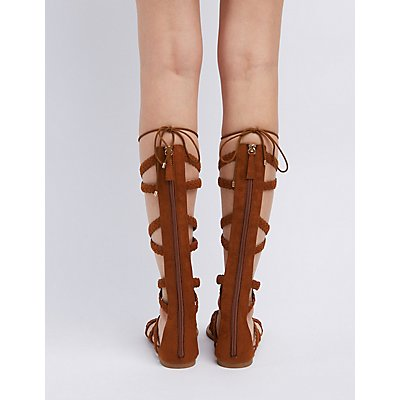 Braided Lace-Up Gladiator Sandals