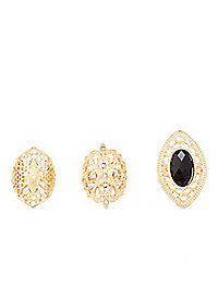 Filigree Rings - 3 Pack