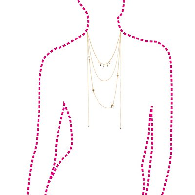 Rhinestone Layered Necklace